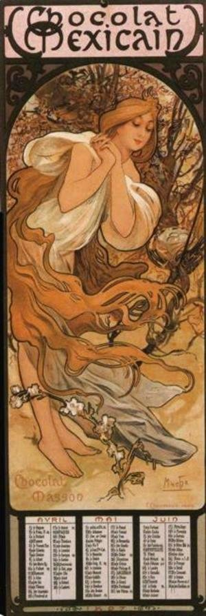 Alphonse Maria Mucha - The Four Seasons: Spring. 1897