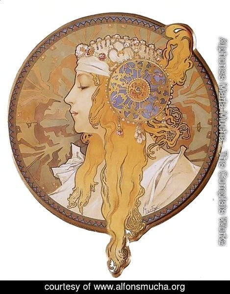 Byzantine Head: The Blonde. 1897