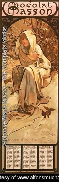 Alphonse Maria Mucha - The Four Seasons: Winter. 1897