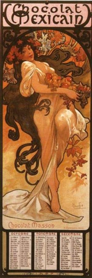 Alphonse Maria Mucha - The Four Seasons: Autumn. 1897