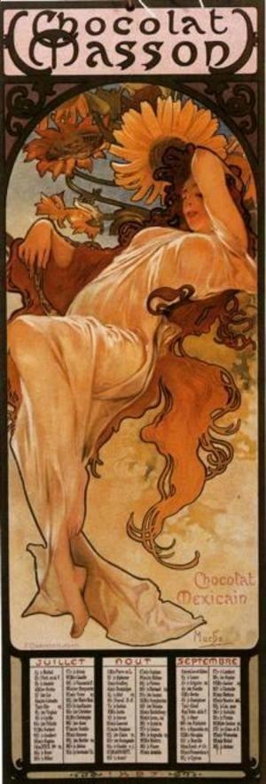 Alphonse Maria Mucha - The Four Seasons: Summer. 1897