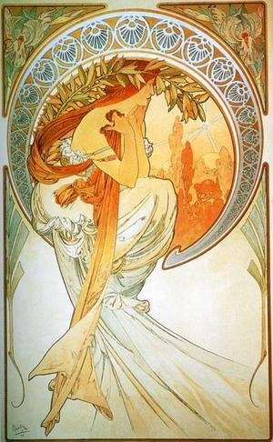 Alphonse Maria Mucha - Dance. From The Arts Series. 1898
