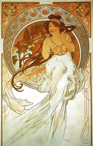 Alphonse Maria Mucha - Music. From The Arts Series. 1898