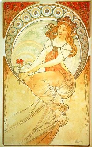 Alphonse Maria Mucha - Painting. From The Arts Series. 1898