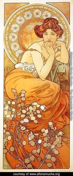 Alphonse Maria Mucha - Topaz. From The Precious Stones Series, 1900