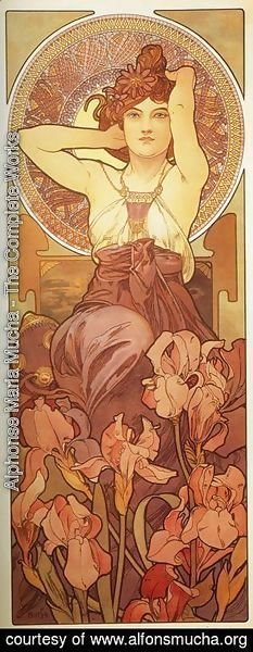 Alphonse Maria Mucha - Amethyst. From The Precious Stones Series. 1900