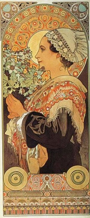 Alphonse Maria Mucha - Thistle from the Sands. 1902