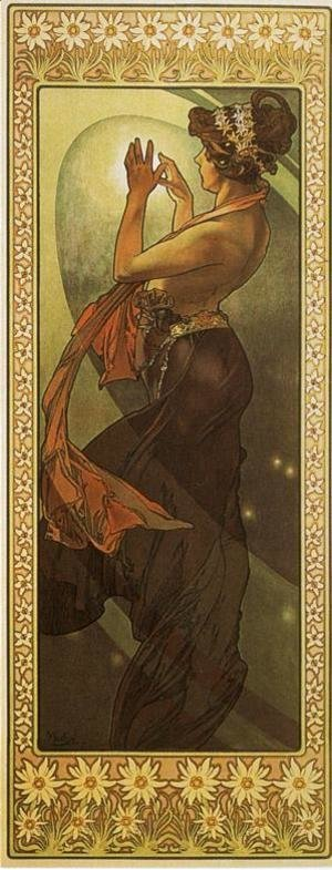 Alphonse Maria Mucha - Pole Star. From The Moon and the Stars Series. 1902