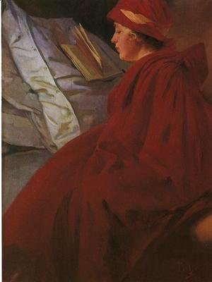 Alphonse Maria Mucha - Red Coat, 1902