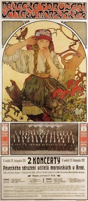 Alphonse Maria Mucha - Moravian Teacher's Choir, 1911