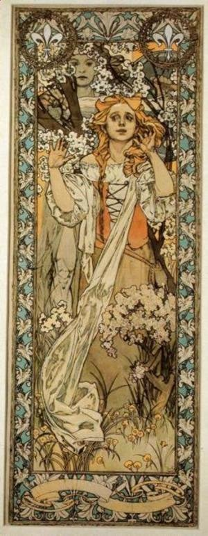 Alphonse Maria Mucha - Joan of Arc (Maude Adams), 1909