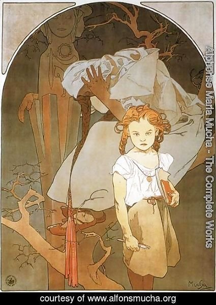 Alphonse Maria Mucha - Lotery of National Unity, 1912