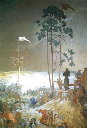 The Meeting of Krizky, 1916