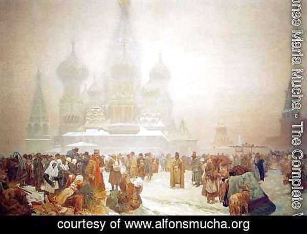Alphonse Maria Mucha - The Abolition of Serfdom in Russia, 1914