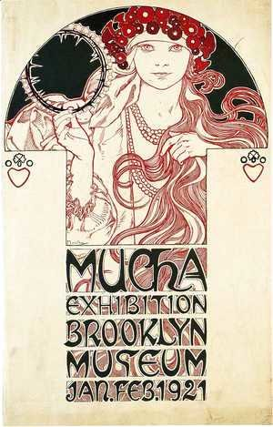 Alphonse Maria Mucha - Poster for the Brooklyn Exhibition, 1921