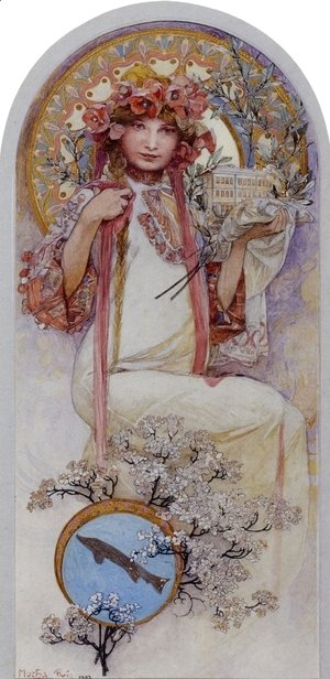 Alphonse Maria Mucha - The Girl of Ivancice