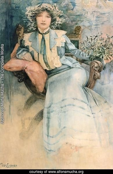 Mistletoe: Portrait of Mme. Mucha