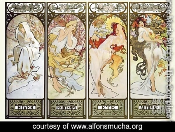 Alphonse Maria Mucha - Four Seasons