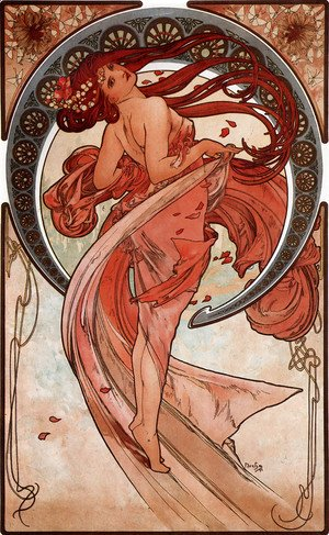 Alphonse Maria Mucha - The Arts, Dance
