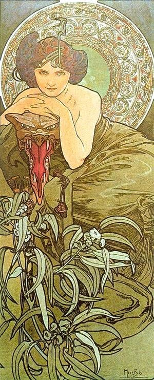 Alphonse Maria Mucha - The Emerald