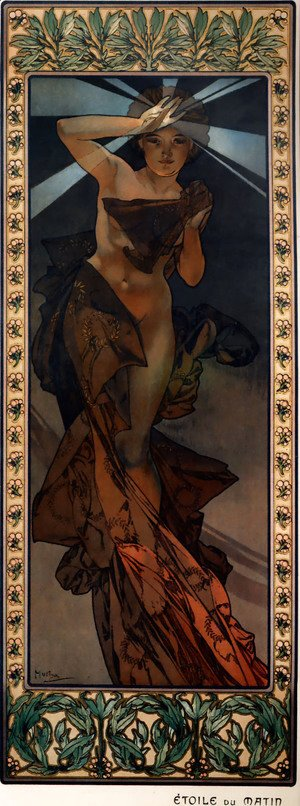 Alphonse Maria Mucha - The Moon And The Stars, Morning Star
