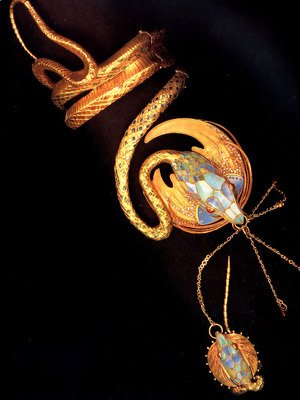 Alphonse Maria Mucha - Serpentine Bracelet With Ring