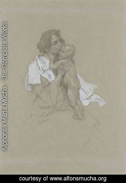 Alphonse Maria Mucha - Mother And Child