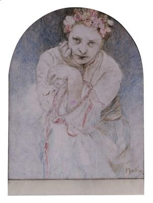 Seated Girl With A Garland