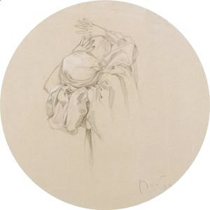 Alphonse Maria Mucha - Study Of A Draped Female