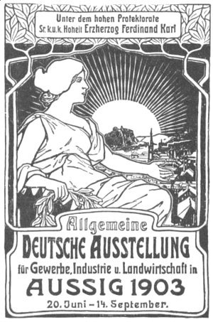 Alphonse Maria Mucha - General German poster exhibition for trade, industry and agriculture
