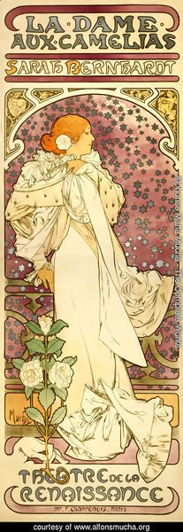 Alphonse Maria Mucha - The Lady of the Camellias