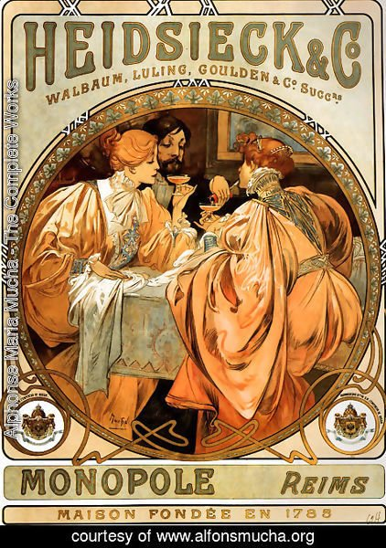 Alphonse Maria Mucha - Heidsieck And Co