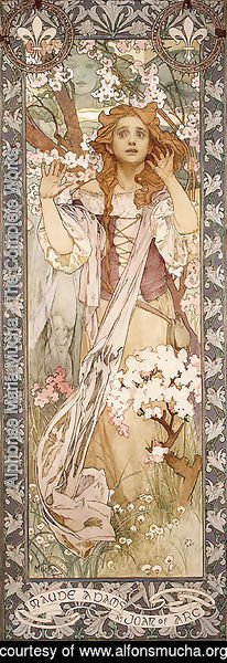 Alphonse Maria Mucha - Maud Adams As Joan Of Arc