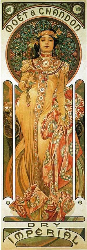 Alphonse Maria Mucha - Moet And Chandon Cremant Imperial