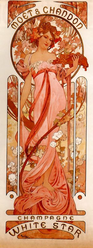 Alphonse Maria Mucha - Moet And Chandon White Star