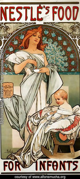 Alphonse Maria Mucha - Nestles Food For Infants