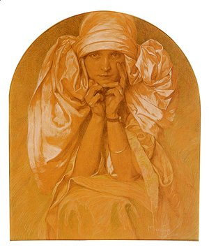 Alphonse Maria Mucha - Portrait Of The Artists Daughter Jaroslava