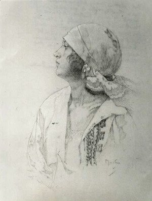 Alphonse Maria Mucha - The Artists Daughter