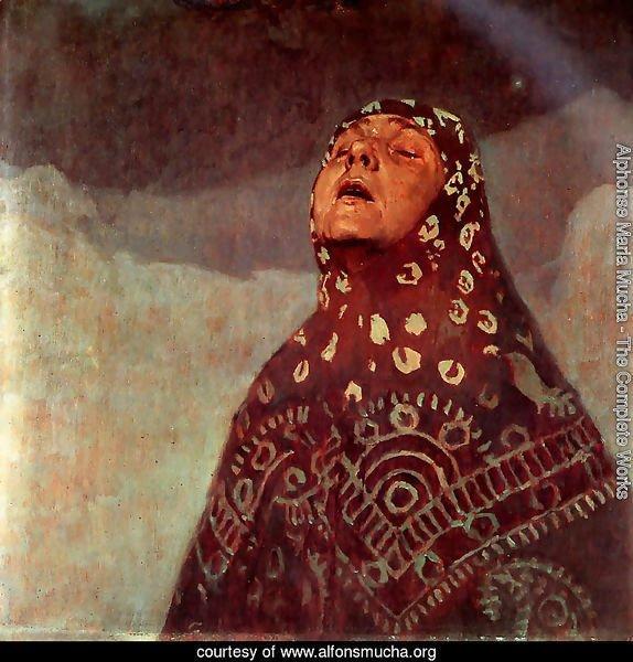 Alphonse Maria Mucha - The Complete Works - Winter Night ...